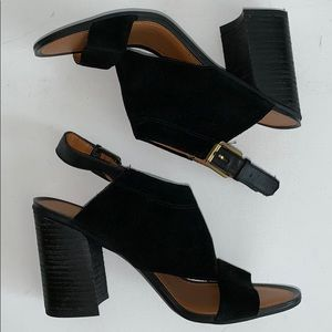 Franco Sarto   Suzie Black Sling Back Heels